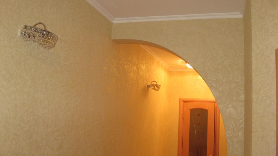 Как украсить арку из гипсокартона своими руками